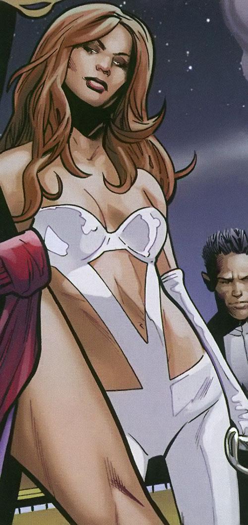 Verre (X-Men enemy) (Marvel Comics) skimpy white costume