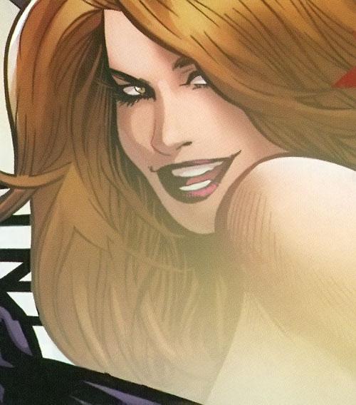 Verre (X-Men enemy) (Marvel Comics) fading face closeup