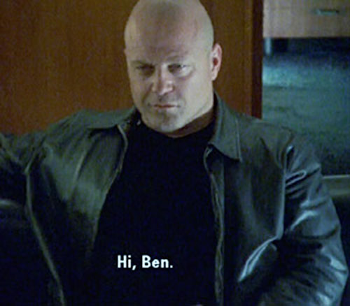 Vic Mackey (Michael Chiklis in The Shield) dressed in black