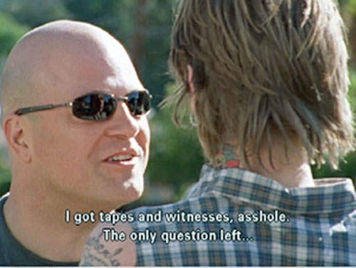 Vic Mackey (Michael Chiklis in The Shield) wearing shades