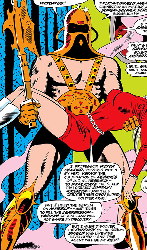 Victorius (Ka-Zar enemy) (Marvel Comics) and Bobbi Morse