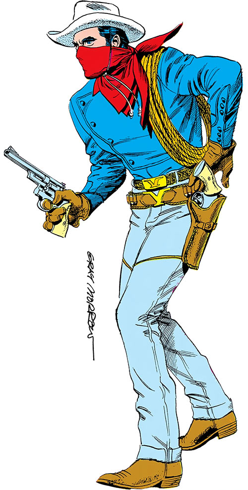 Vigilante (DC Comics) (Seven soldiers) (Greg Sanders) over a white background