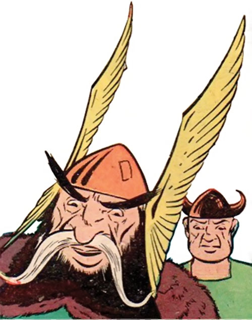 Viking (Namora enemy) (Marvel Timely Comics) (Golden Age) face closeup
