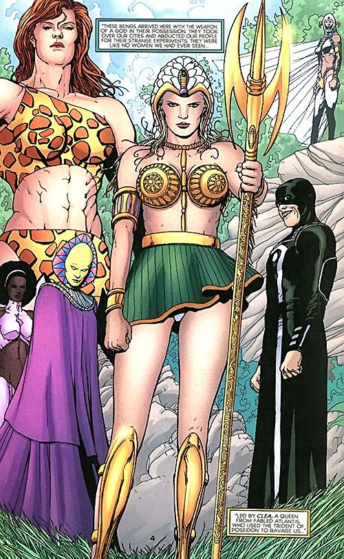 Queen Clea and her Villainy, Inc. team (Wonder Woman enemies) (DC Comics)