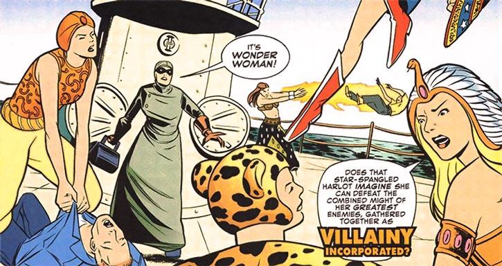 Post-Crisis 1940s version of Villainy, Inc. vs. Wonder Woman