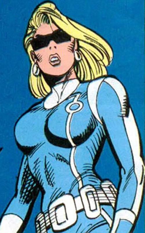 Violence of SHIELD (Marvel Comics) in a light blue uniform