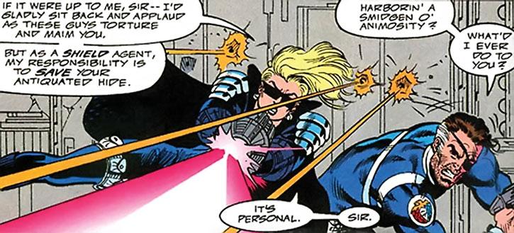 Violence (Violet Pinkerton) and Nick Fury