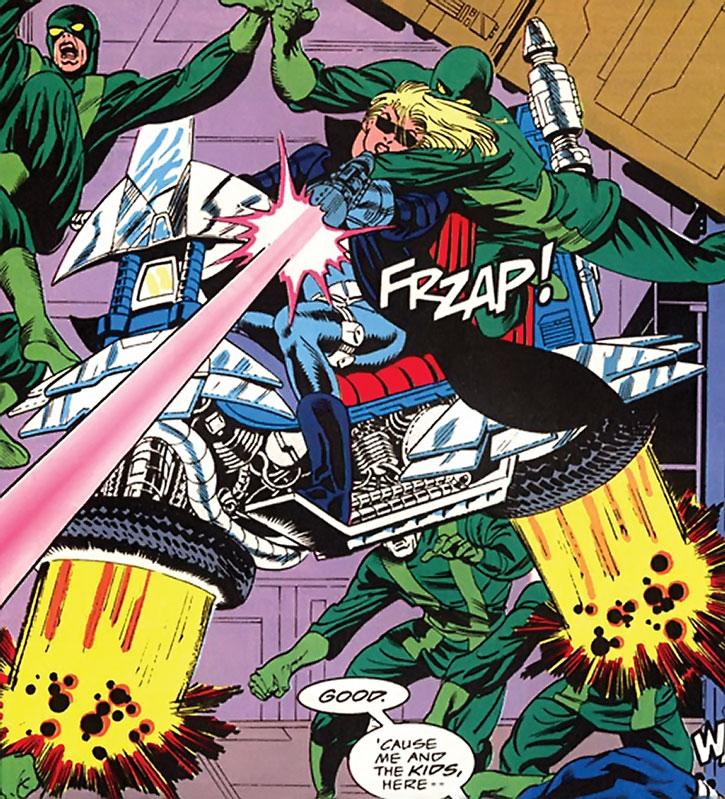 Violence (Violet Pinkerton) vs. Hydra agents