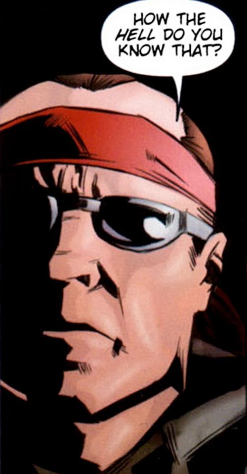 Violens (Peter David comics) with red headband and mirror shades