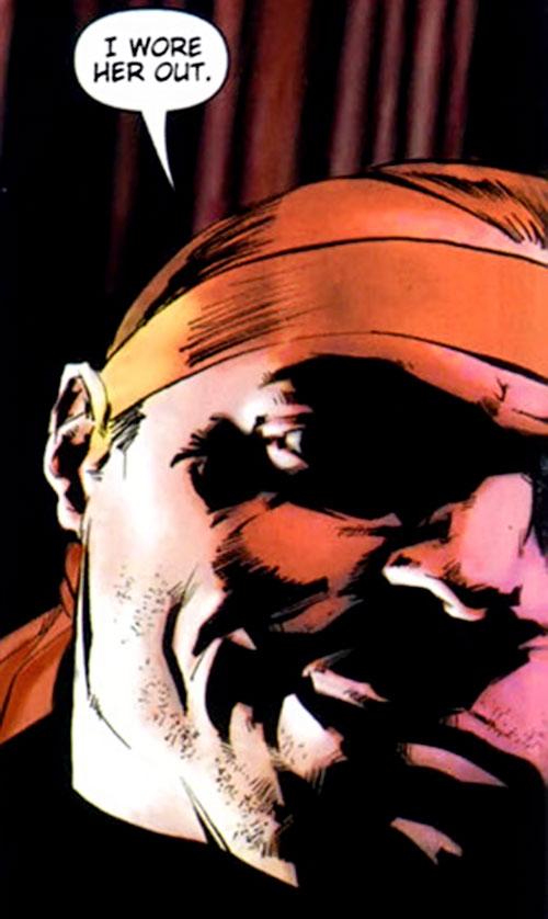 Violens (Peter David comics) face closeup with headband