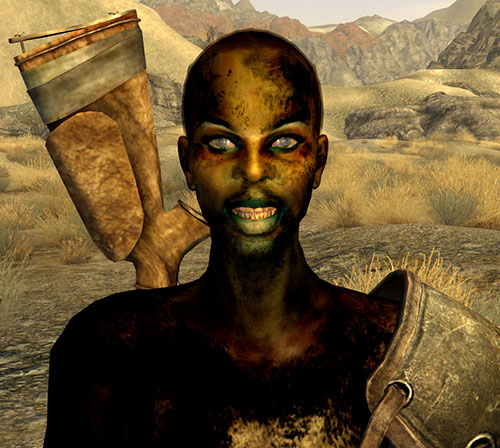 Violet of the Fiends (Fallout New Vegas) grinning