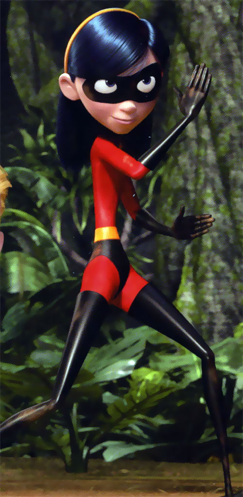 Violet Parr of the Incredibles (Pixar movie) in a forest