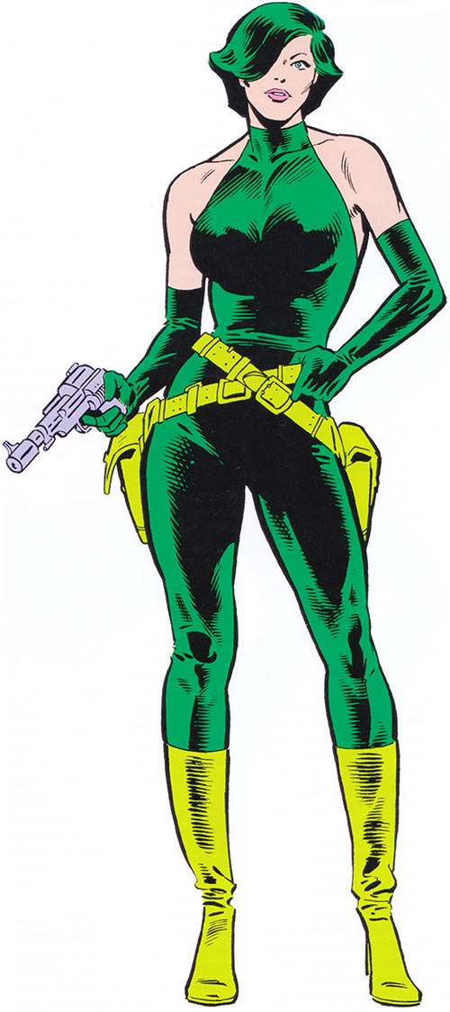 Viper Madame Hydra from the 1983 Marvel Comics handbook