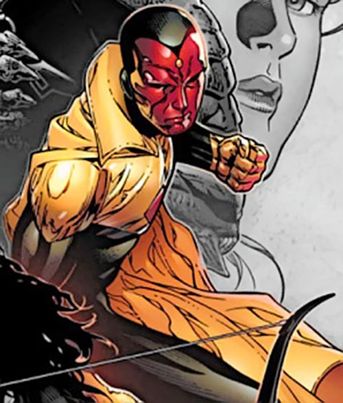 Vision of the Younger Avengers (Marvel Comics) ready for action