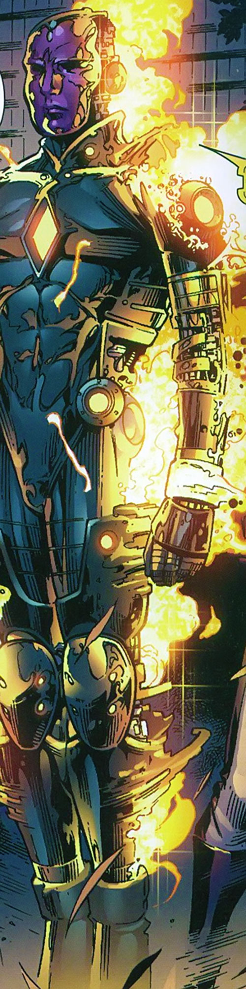 Vision of the Younger Avengers (Marvel Comics) with apparent robotics