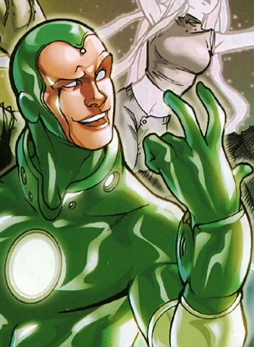 Vision of the Younger Avengers (Marvel Comics) worn by man