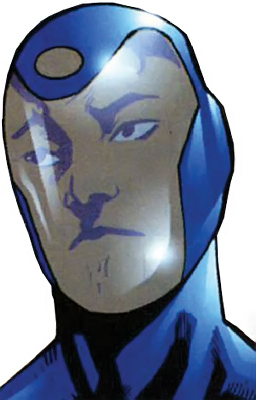 Visionary from the Dynamo 5 (Image Comics) face closeup in costume