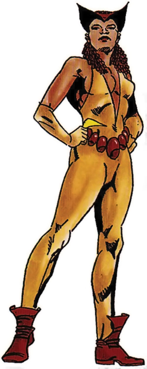 Vixen of the JLA (DC Comics) 1980s look