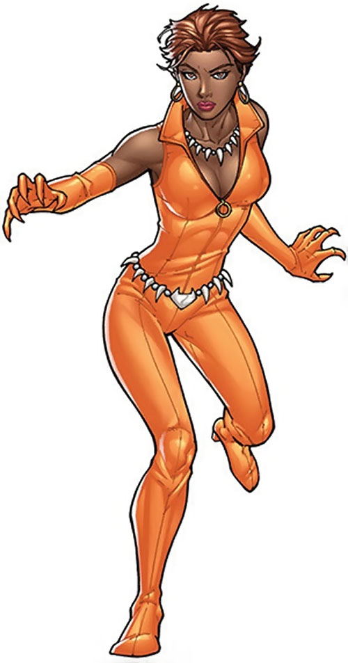 Vixen of the JLA (DC Comics) orange costume