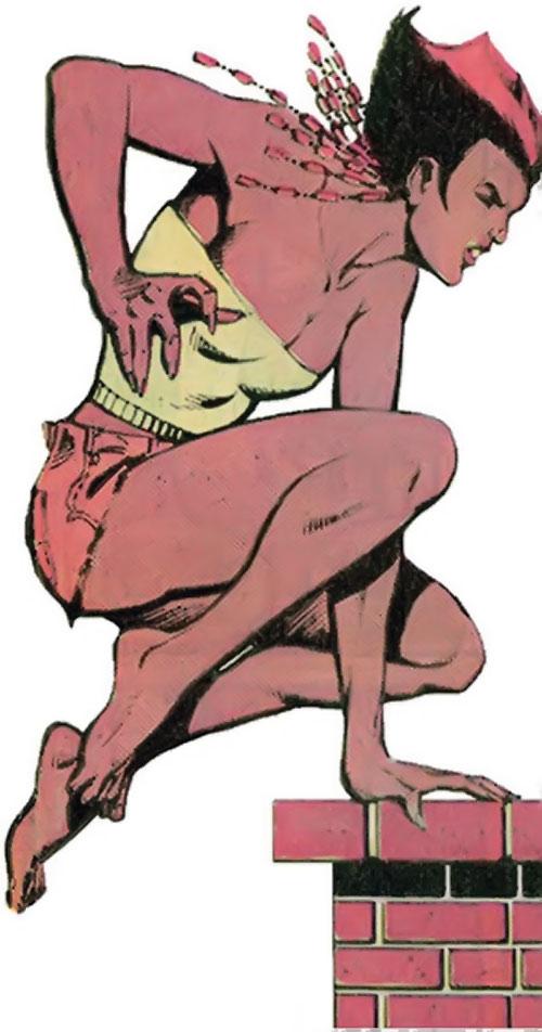 Vixen of the JLA (DC Comics) out of costume parkour