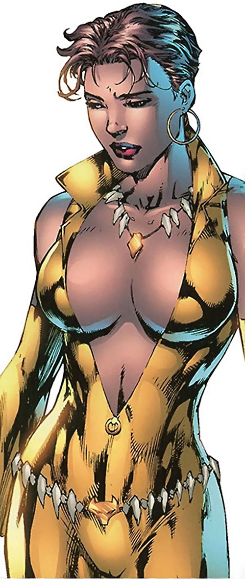 Vixen of the JLA (DC Comics) shiny golden costume