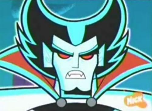 Vlad Plasmius (Danny Phantom enemy) ghost face closeup