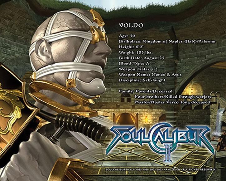 Voldo character details screen
