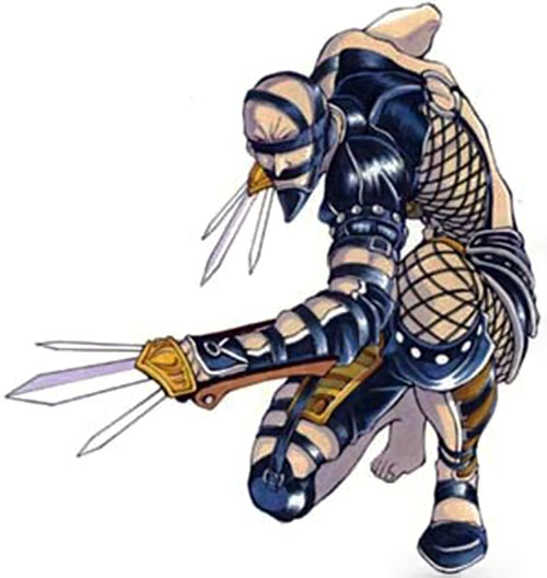 Voldo (Soul Calibur) crouching