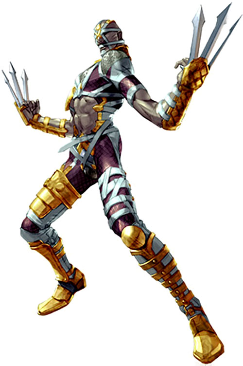 Voldo (Soul Calibur) with claws raised