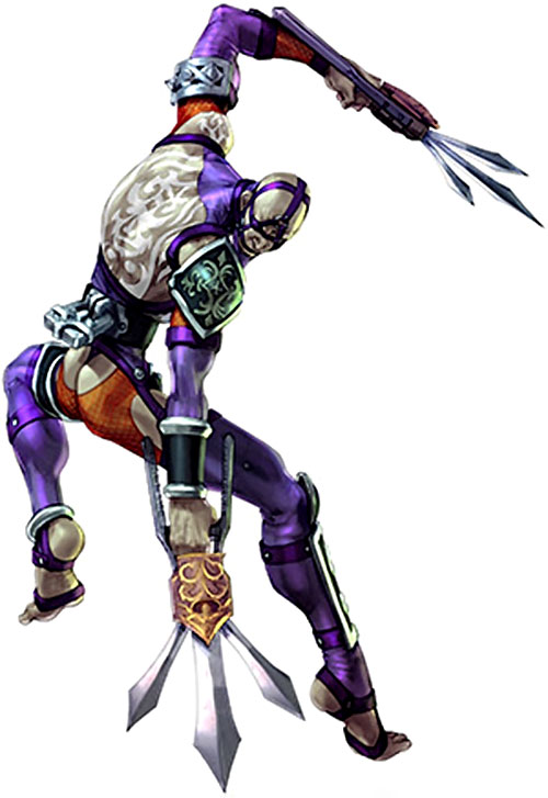 Voldo (Soul Calibur) in eggplant and orange