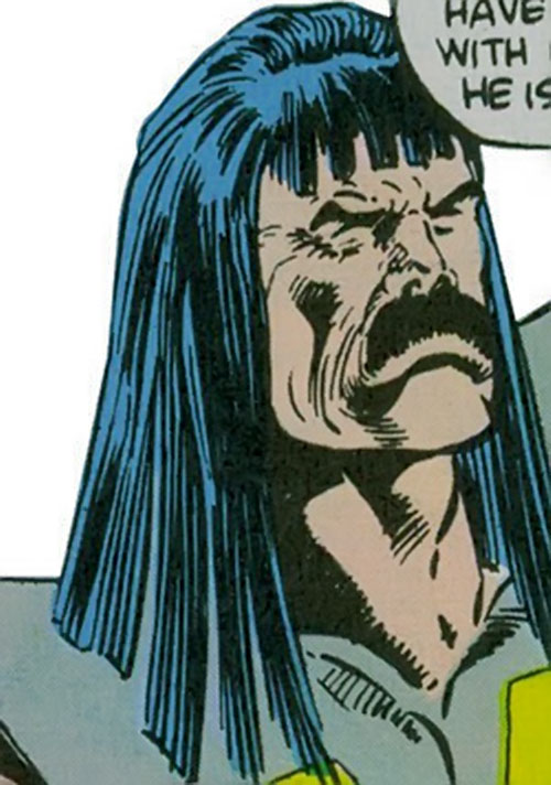 Vootrekker of the Supremacists (Marvel Comics) (Black Panther enemy) face closeup