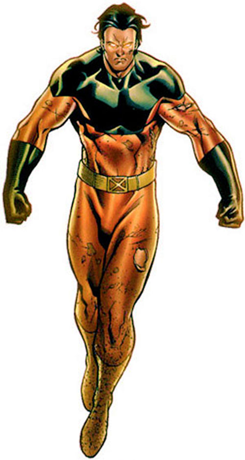 Vulcan (X-Men enemy) (Marvel Comics) hovering menacingly