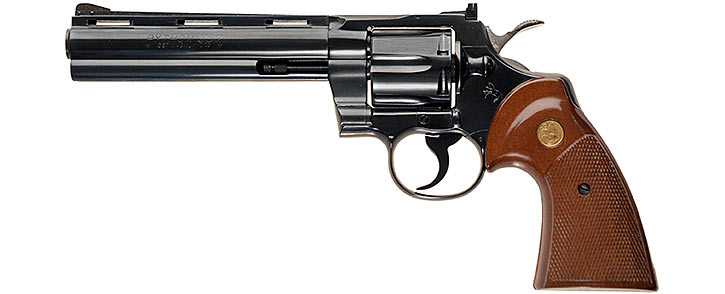 Blued .357 Colt Python with 6 inches barrel