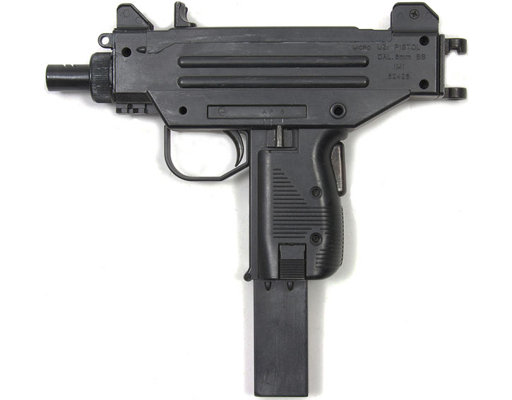 Micro-Uzi pistol replica in 6mm BB