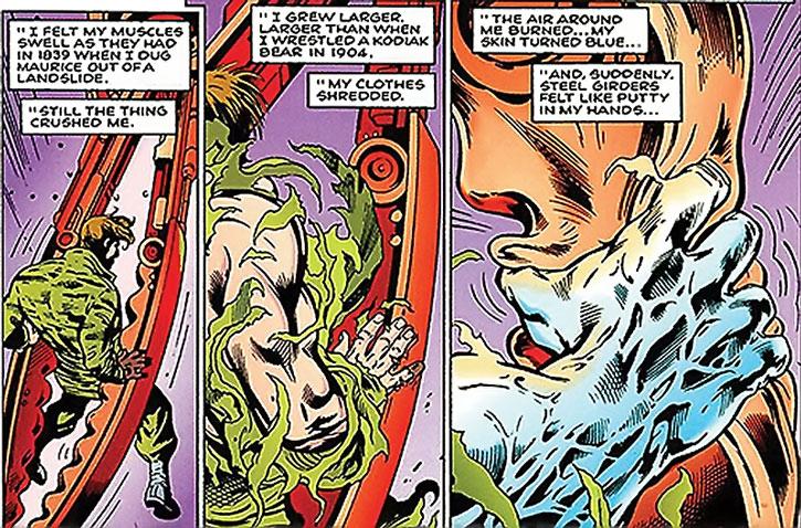 Wallop of Clan Destine (Marvel Comics) transforming