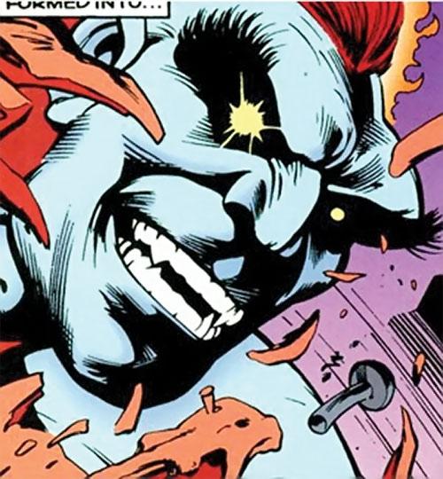 Wallop of Clan Destine (Marvel Comics) face closeup