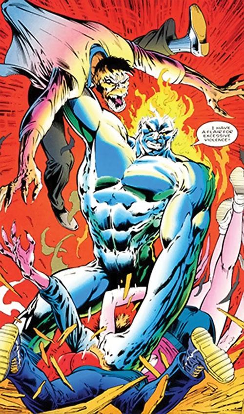 Wallop of Clan Destine (Marvel Comics) killing Lenz's mutates