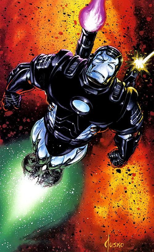 War Machine (James Rhodes) (Marvel Comics) Joe Jusko masterpieces painting