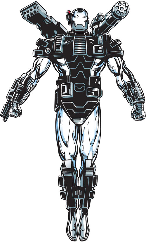 War Machine (James Rhodes) (Marvel Comics) hovering