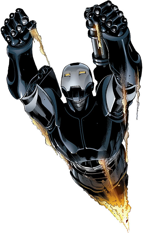 War Machine (Marvel Comics) (James Rhodes) rocketing up