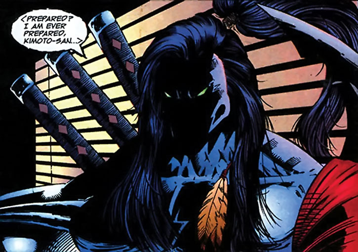 Warcry (Brigade character) (Image Comics) in the shadows