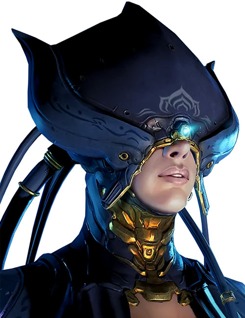 Warframe - Portrait of the Lotus with her helm