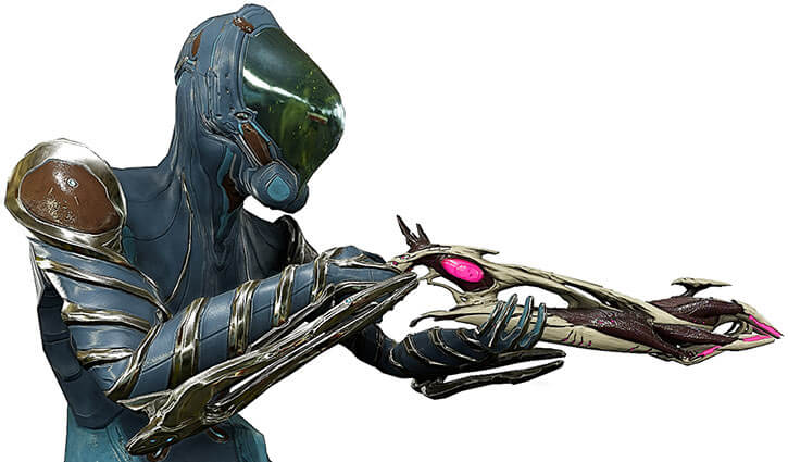 Mag warframe with a Phage