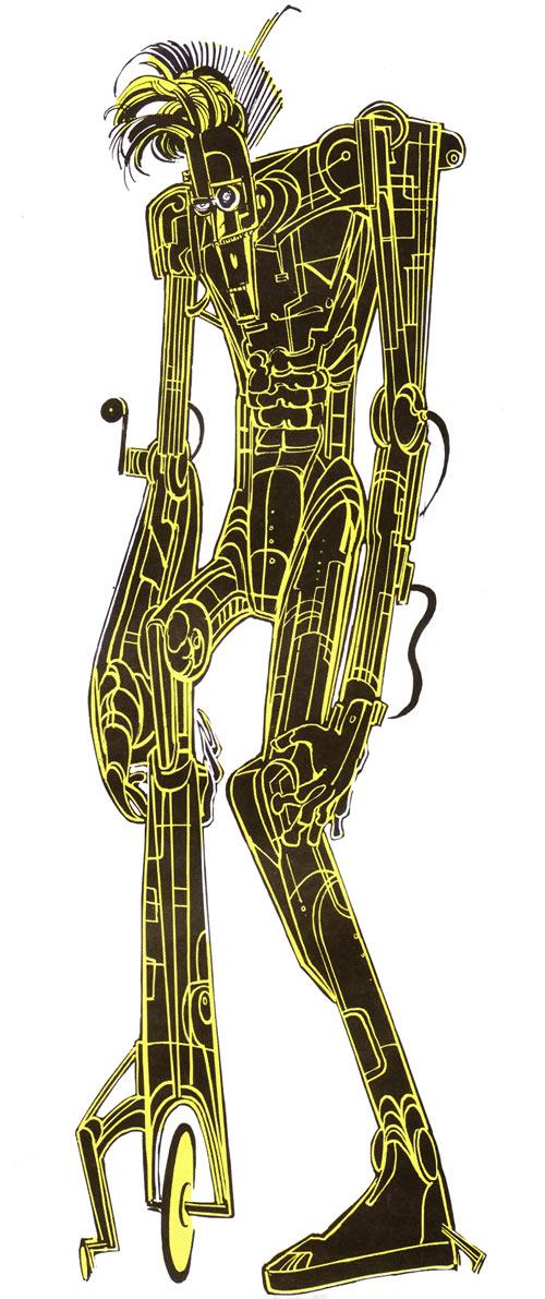 Warlock - Marvel Comics - New Mutants - Techno organic alien - 1980s handbook