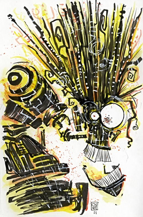 Warlock - Marvel Comics - New Mutants - Techno organic alien - Skottie Young sketch