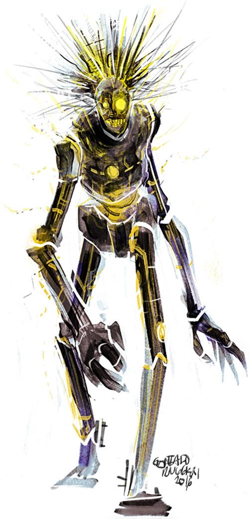 Warlock - Marvel Comics - New Mutants - Techno organic alien - Gonzalo Ruggieri fan art