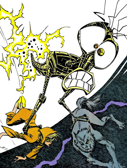 Warlock - Marvel Comics - New Mutants - Techno organic alien - evacuating Magick and Wolfsbane