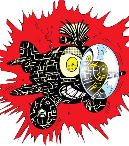 Warlock - Marvel Comics - New Mutants - Techno organic alien - miniplane