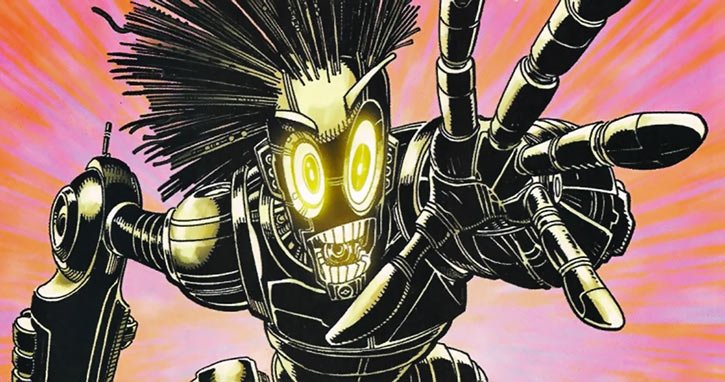 Warlock - Marvel Comics - New Mutants - Techno organic alien - alarmed