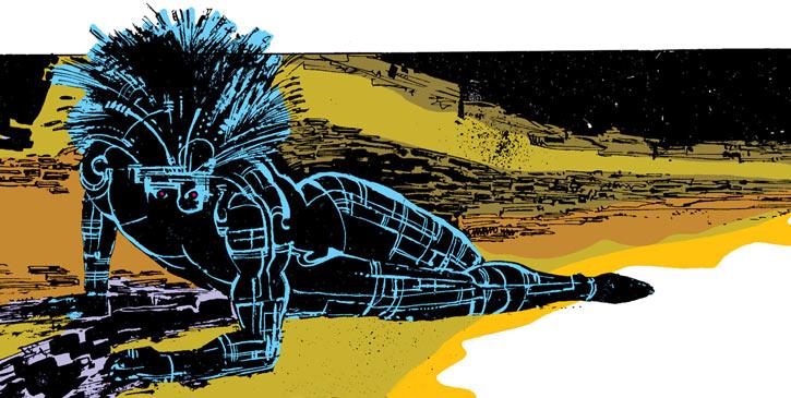 Warlock - Marvel Comics - New Mutants - Techno organic alien - getting up